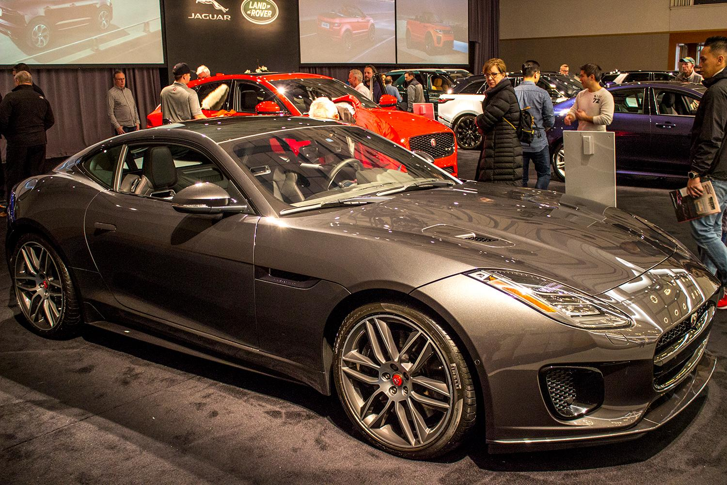 Jaguar F-Type -{&amp;nbsp;}The Portland International Auto Show began at the Oregon Convention Center on Jan. 25, 2018. The event drew prospective buyers and others who enjoyed looking at and comparing vehicles. Photo by Amanda Butt<p></p>