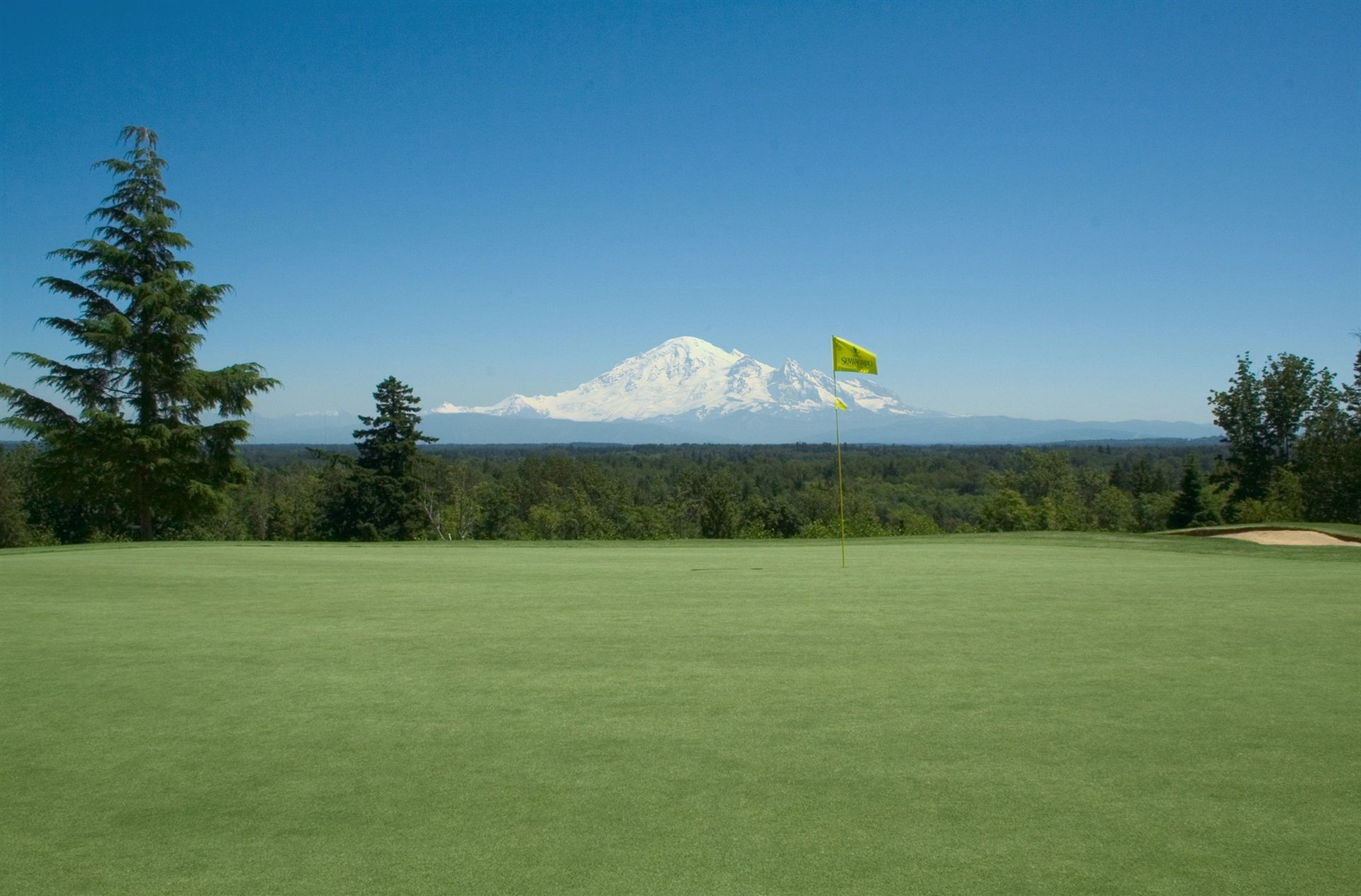 Golf year-round at one of two award-winning golf courses. This is the incredible view from the 4th hole at Semiahmoo Golf and Country Club.<p></p>