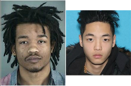 Jacob Timothy Richter-Shea,23, and{&amp;nbsp;}Cody Duk-Woo Moore, 19, are wanted in connection to a shooting in Eugene. Police say they are considered &quot;armed and dangerous,&quot; Dec. 16, 2017. (Photos via Eugene Police Dept.)<p></p>