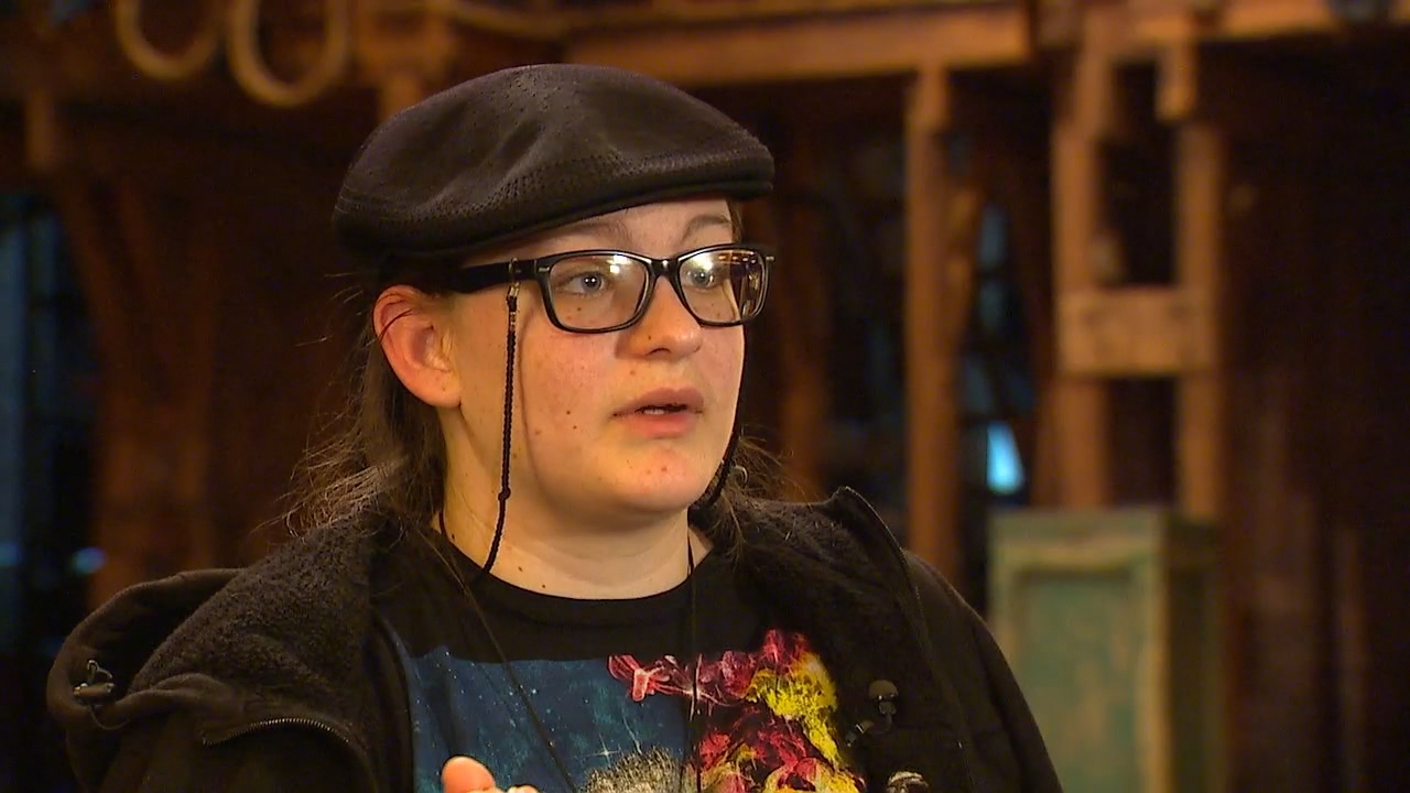"""It's bringing history to us,"" said 16-year-old Simone Williams, who performed a rap she wrote on Abigail Adams after Thursday's ""Hamilton"" performance. (Photo: KOMO News)"