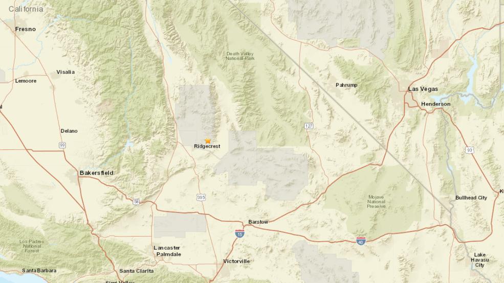 6.4 earthquake in California felt in Las Vegas | KSNV on las vegas freeway map, las vegas walking map, las vegas hotel map printable,