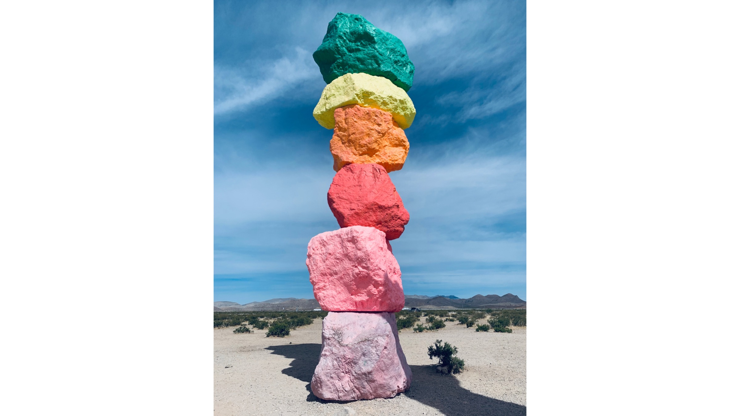One of the Seven Magic Mountains.{ }(Shannon Kelly/NSN)