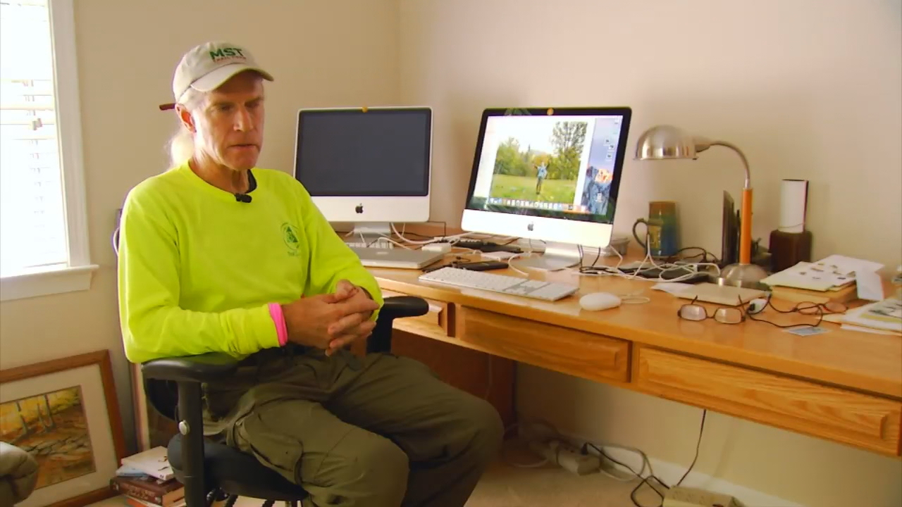 Mel Skiles has stayed active his entire life. He hiked the Appalachian Trail shortly after he retired.