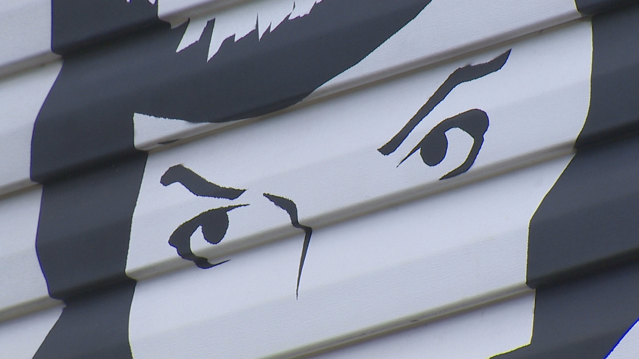 Iconic Bettie Page Mural Gets New Paint New Addition
