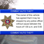 Sand Springs PD using stickers to crack down on auto thefts