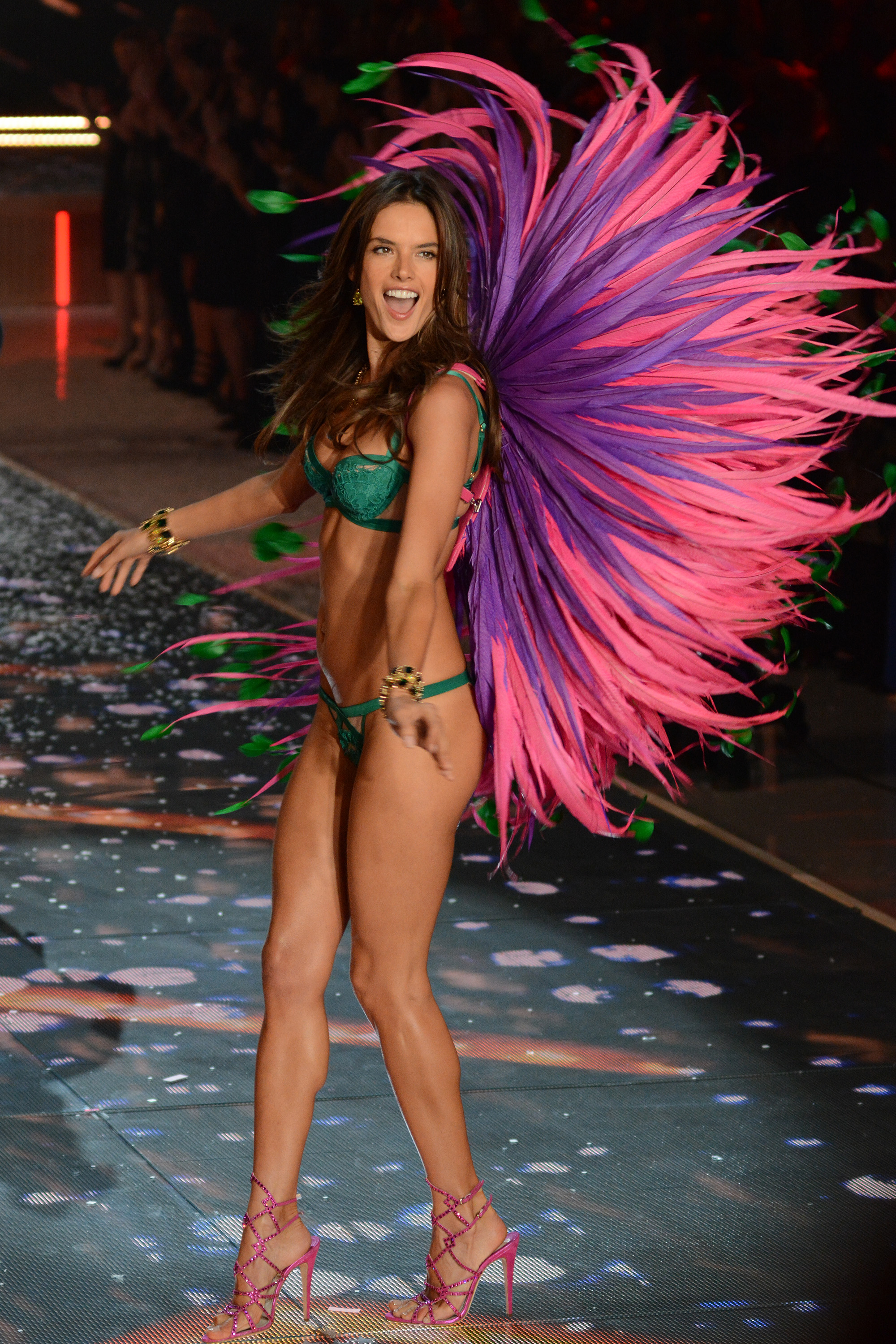 Alessandra Ambrosio at the 2015 Victoria's Secret Fashion Show ( Ivan Nikolov/WENN.com)