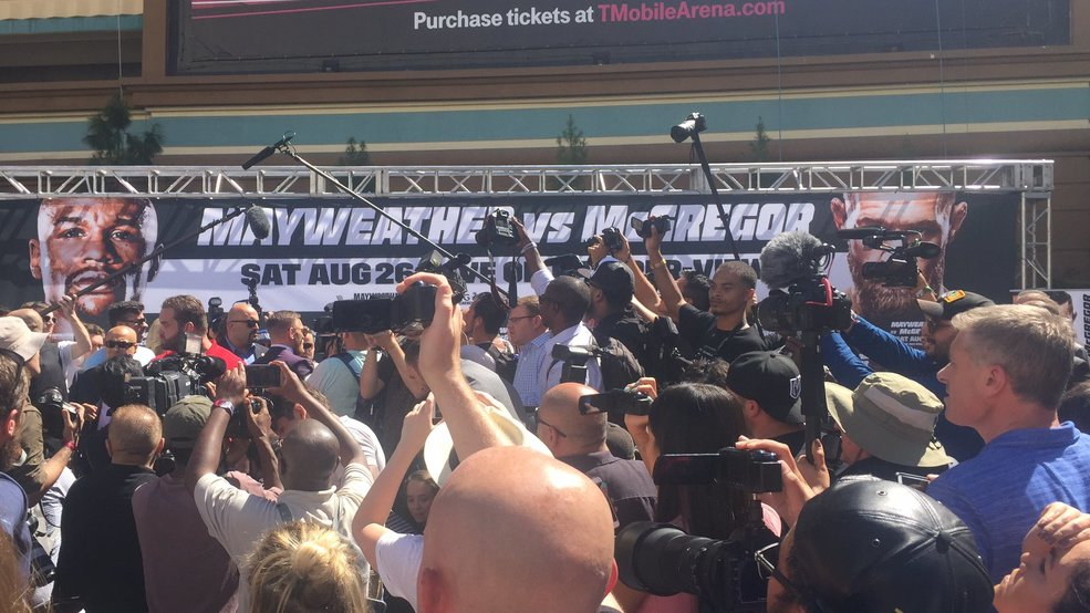 McGregor and Mayweather make their grand entrances in Las Vegas
