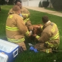 RAW VIDEO: Firefighters treat dog at scene of Granger house fire