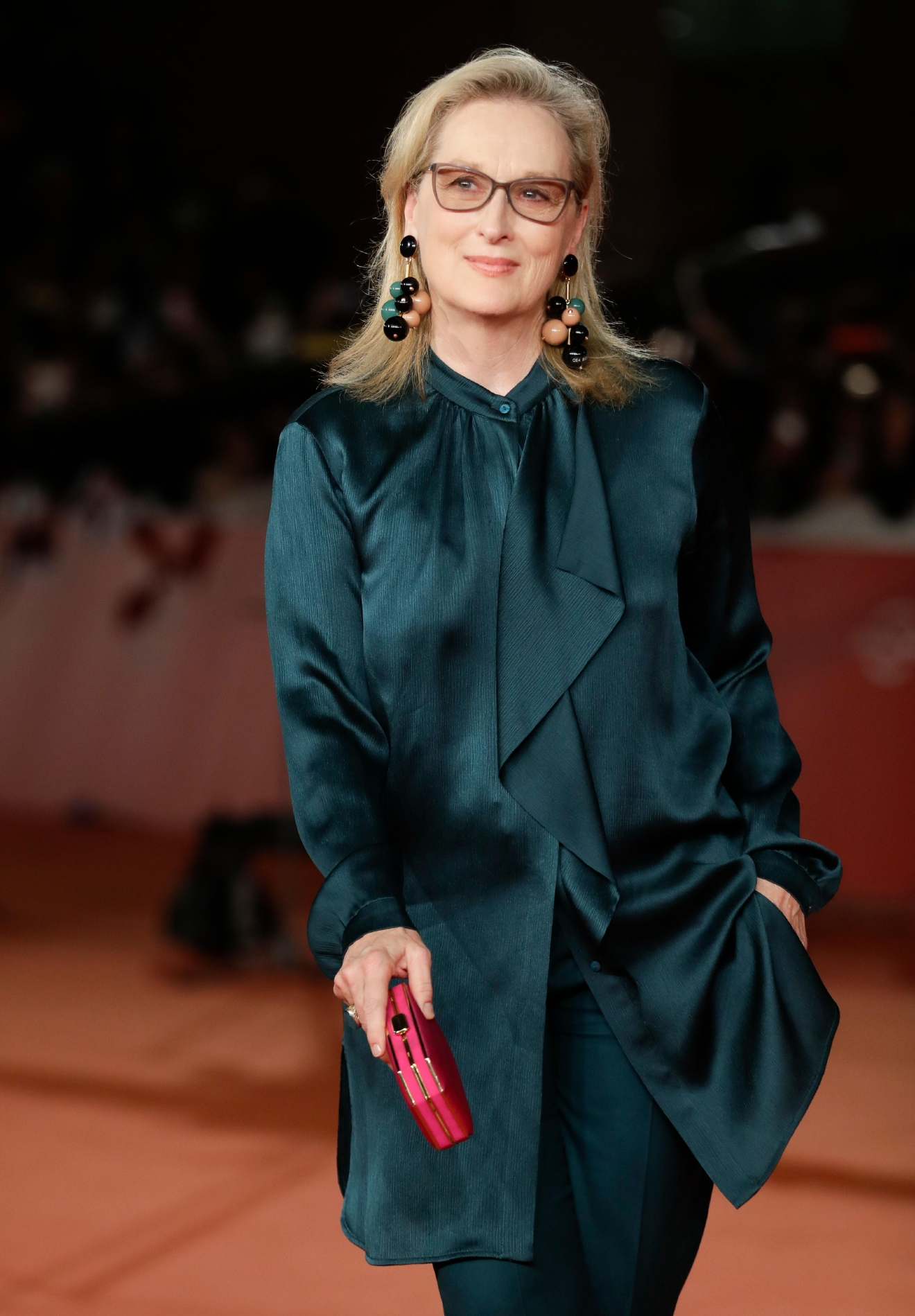 "FILE - In this Oct. 20, 2016 file photo, actress Meryl Streep arrives for the screening of the movie ""Florence Foster Jenkins"", at the Rome Film Festival, in Rome. The Hollywood Foreign Press Association announced Thursday, Nov. 3, 2016, that Streep will receive the Cecil B. DeMille Award for ""outstanding contributions to the world of entertainment."" The 67-year-old actress has long been a mainstay at the ceremony. She's been nominated 29 times.  (AP Photo/Andrew Medichini, File)"