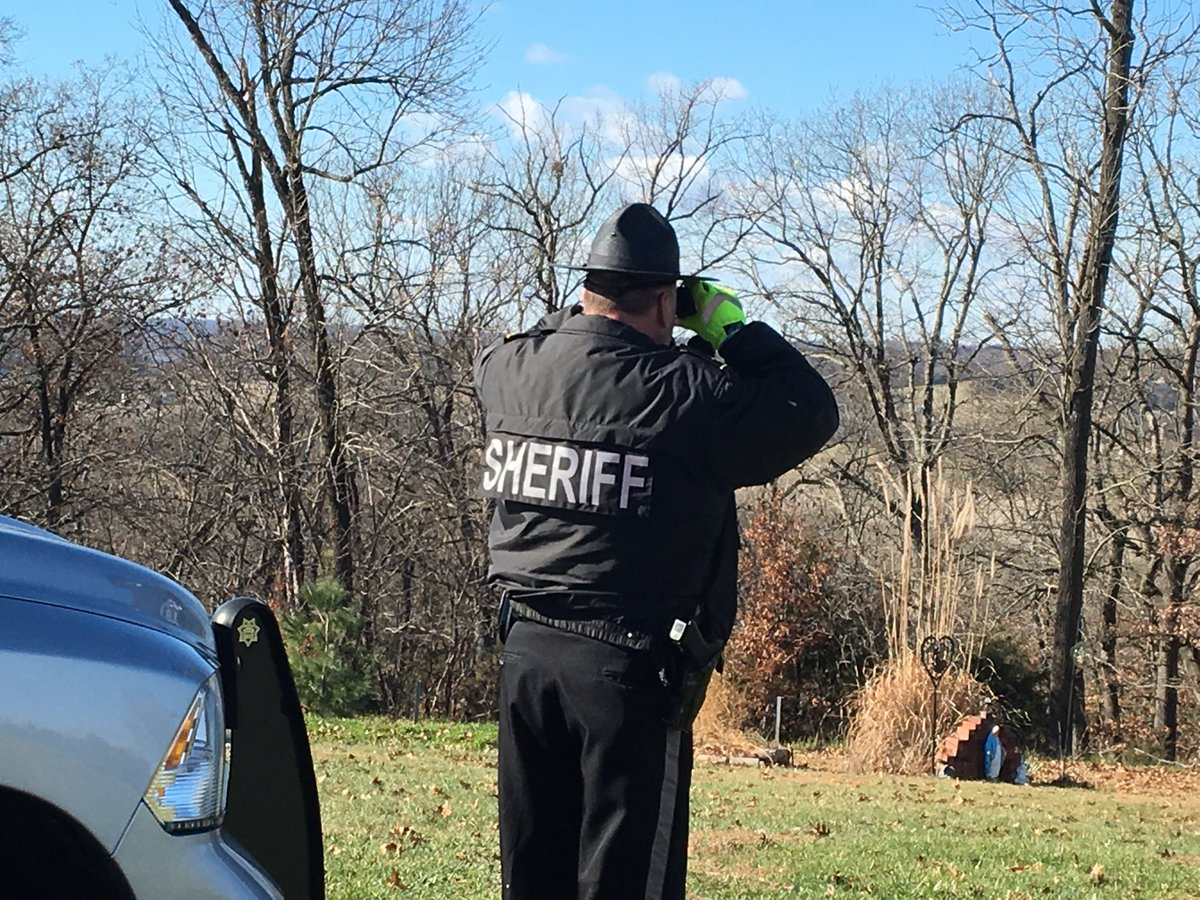 Sheriff Michael Bonham along with Deputies from Moniteau, Osage, and Maries Counties continue to search for Stephen Brandon. (Elizabeth Hoffman/KRCG 13)