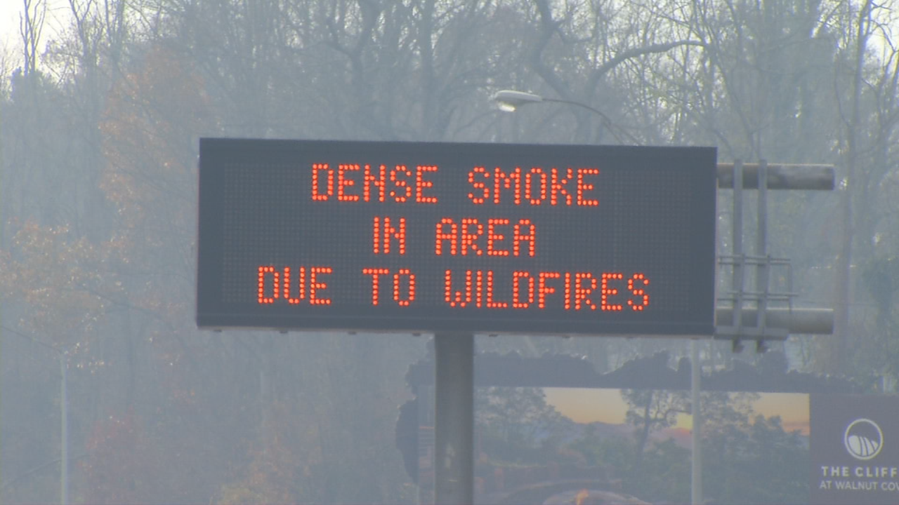 Another day of Code Red air quality conditions caused health concerns across the mountains as crews try to get a handle on wildfires. (Photo credit: WLOS staff)
