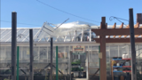 Gust of wind rips up part of roof at DiGregory's Greenhouse