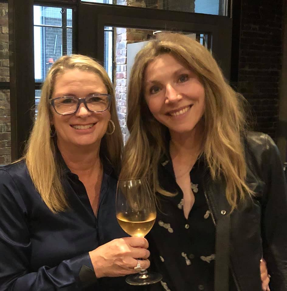 Kristin Hannah and actress Sarah Chalke on the set of the upcoming Netflix series 'Firefly Lane'. (Image: Kristin Hannah)