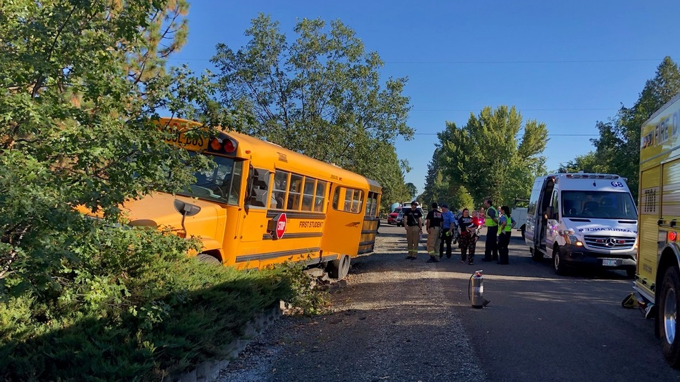 School bus carrying 11 students involved in crash | KTVL