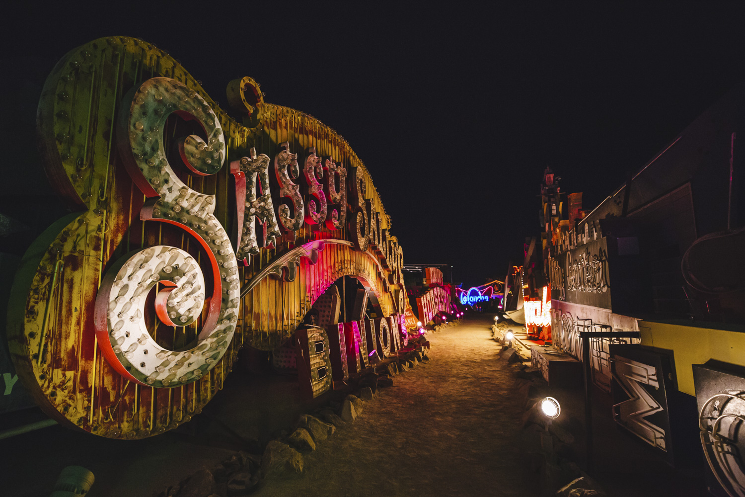 "Neon Museum. Las Vegas may be best known for its sinful side but there's more to this modern metropolis than losing your shirt. Not the gambling type? A tour of the city's faded relics at The Neon Museum is great for both history buffs and Instagramming your heart out. Get same-day discount tickets to check out one (or more) of Cirque Du Soleil's seven different local shows for a masterful performance. Vegas is a hotbed of buzz-worthy eateries that don't involve buffets, so do your tummy a favor try the melt-in-your-mouth pork belly buns at Momofuku and don't even think about leaving before digging into the neighboring Milk Bar's cereal milk ice cream with cornflake crunch. It really does taste just like the milk at the bottom of a bowl of cornflakes! And while you can no longer catch Britney Spears like us, there are countless headlining musical acts in town that redefine the term ""production."" From Flying high down the Fremont Street zip-line to pretending you're in the movies in front of the Bellagio fountains, don't miss out on all Las Vegas has to offer just outside the casinos. (Image: Sunita Martini)"