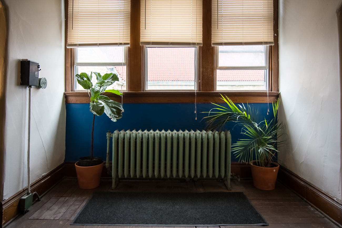 The 3rd floor of the former rectory building where Radio Artifact broadcasts includes additional spaces that are unofficial extensions of the operation. / Image: Phil Armstrong, Cincinnati Refined // Published: 1.15.18<p></p>