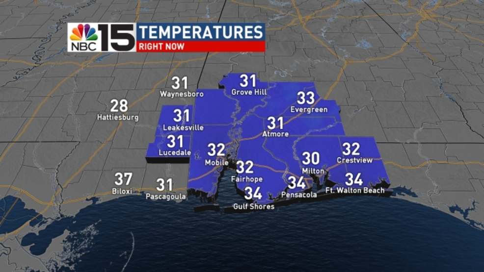 (image: WPMI) Freezing temps to start today, Warming up through the week