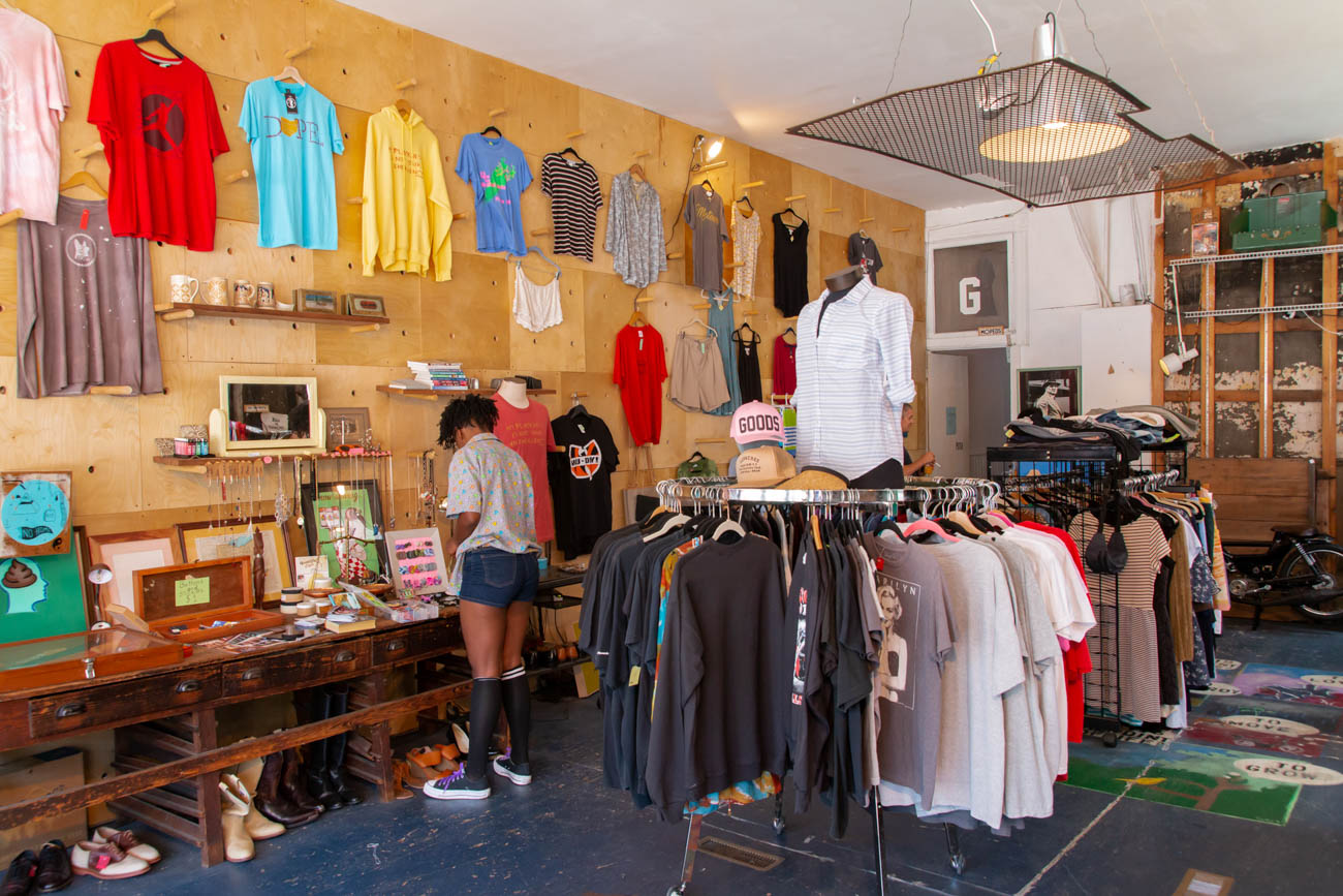 PLACE: GOODS / ADDRESS: 1300 Main Street (45202) / GOODS is all about storytelling. Whether it's through their Cincy throwback gear, hand-picked vintage clothing and decor, or their ever-growing collection of rehabbed mopeds serviced and sold by co-owner Carl Hunt, GOODS is where it's at. They originally changed out their merchandise on a regular and seasonal basis with different themes, but they're now more consistent with their products. And rest assured that newer items they stock are still locally made by artists and designers. The engine shop is in the back where they rework and build custom mopeds. Stop by on Friday and Saturday from 12 to 7 PM and on Sunday from 12 to 5 PM. / Image: Elizabeth A. Lowry // Published: 8.16.19