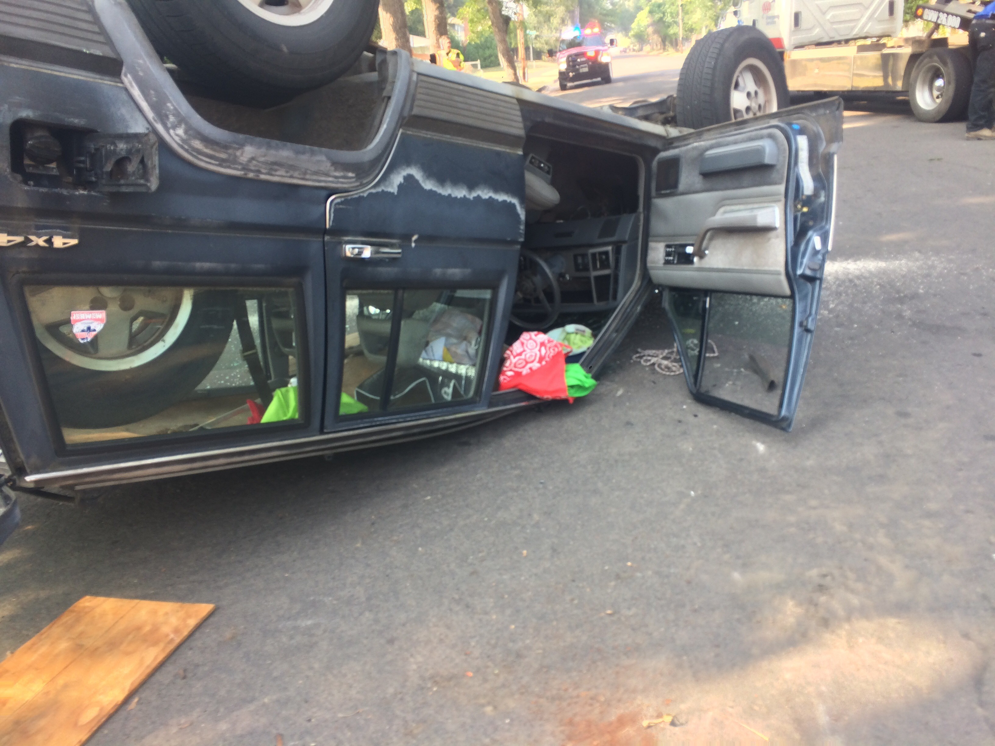 Overturned Jeep Cherokee. (SBG Photo)