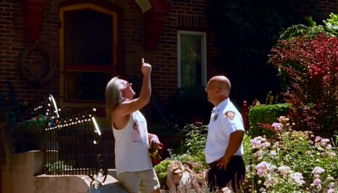 On Tuesday, several firefighters led by Chief Karl Lieb joined forces with volunteers from Yalecrest Community Council. They went door to door in the Sugar House neighborhood handing out fliers about firework restrictions. (Photo: KUTV)