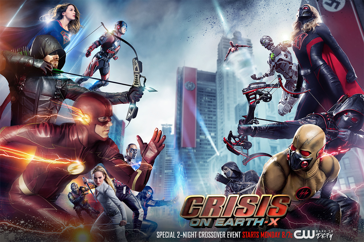 The CW Arrowverse's 4-show Crossover Event, &quot;Crisis On Earth-X&quot; airs November 27th &amp;amp; 28th from 7-9pm on CW18!<p></p>