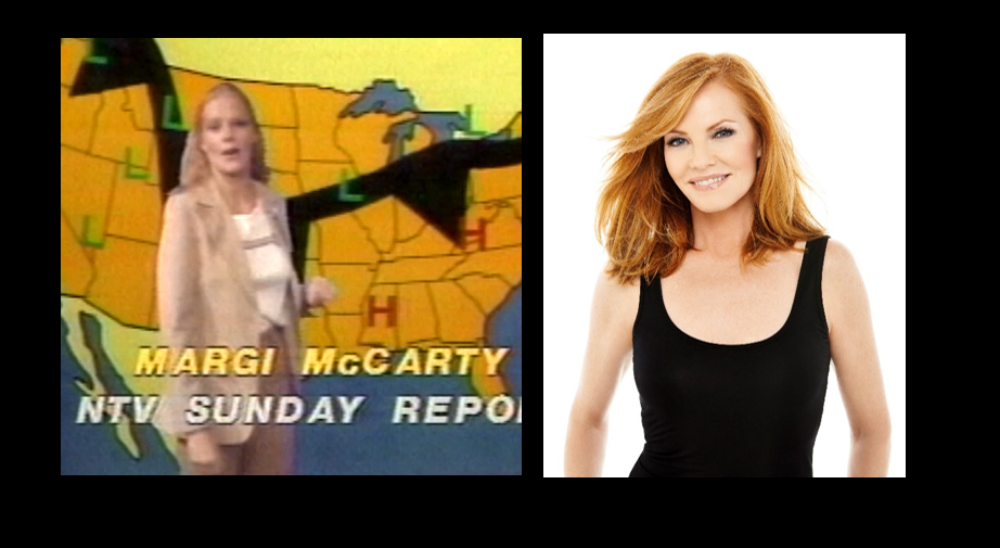 MARG HELGENBERGER Before winning Emmy Awards (China Beach), appearing alongside Julia Roberts in Erin Brockovich, or starring in the hit show CSI Las Vegas, Marg Helgenberger gave the weather at NTV. She was born in Freemont, NE and attended UNK. A producer at the station changed her on-air name to Margi McCarty. Follow Marg on twitter @MargHelgen
