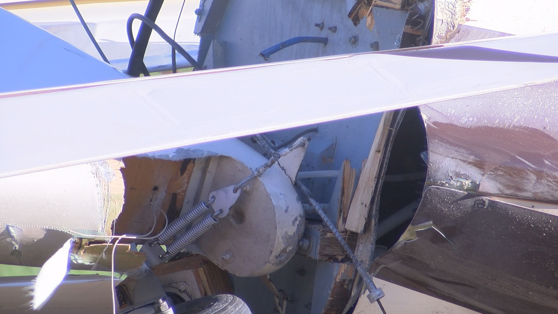More damaged debris from the plane