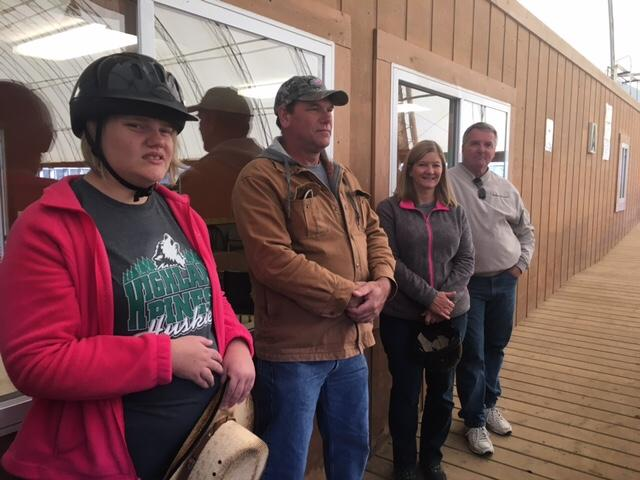 Campers and parents at the Fowler Center for Outdoor Learning watch therapeutic riding{&amp;nbsp;} course. (Photo: Courtney Wheaton)<p></p>