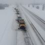 Road crews use 'plow walling' to clear Bypass of wet, heavy snow