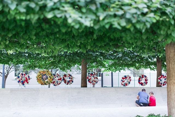 Trees can protect us as they do at the National Law Enforcement Officers Memorial. (Image via @ginnyfiler)