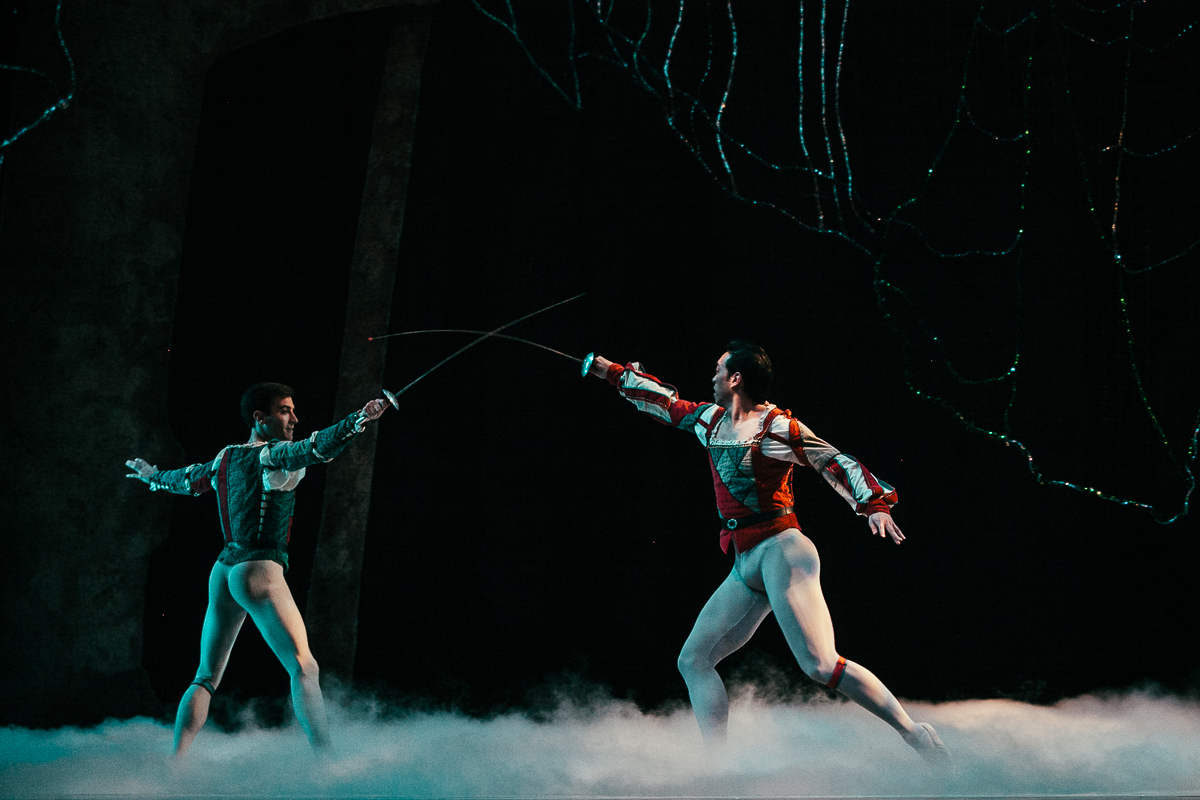 George Balanchine's A Midsummer Night's Dream opens tonight at the Pacific Northwest Ballet. Based on Shakespeare's comedy, the play revolves around the king and queen of fairies, and the reunions of two mortal lovers.  A Midsummer Night's Dream will play for eight performances only, today through April 19 at McCaw Hall in Seattle. Tickets can be purchased online. (Image: Joshua Lewis / Seattle Refined)