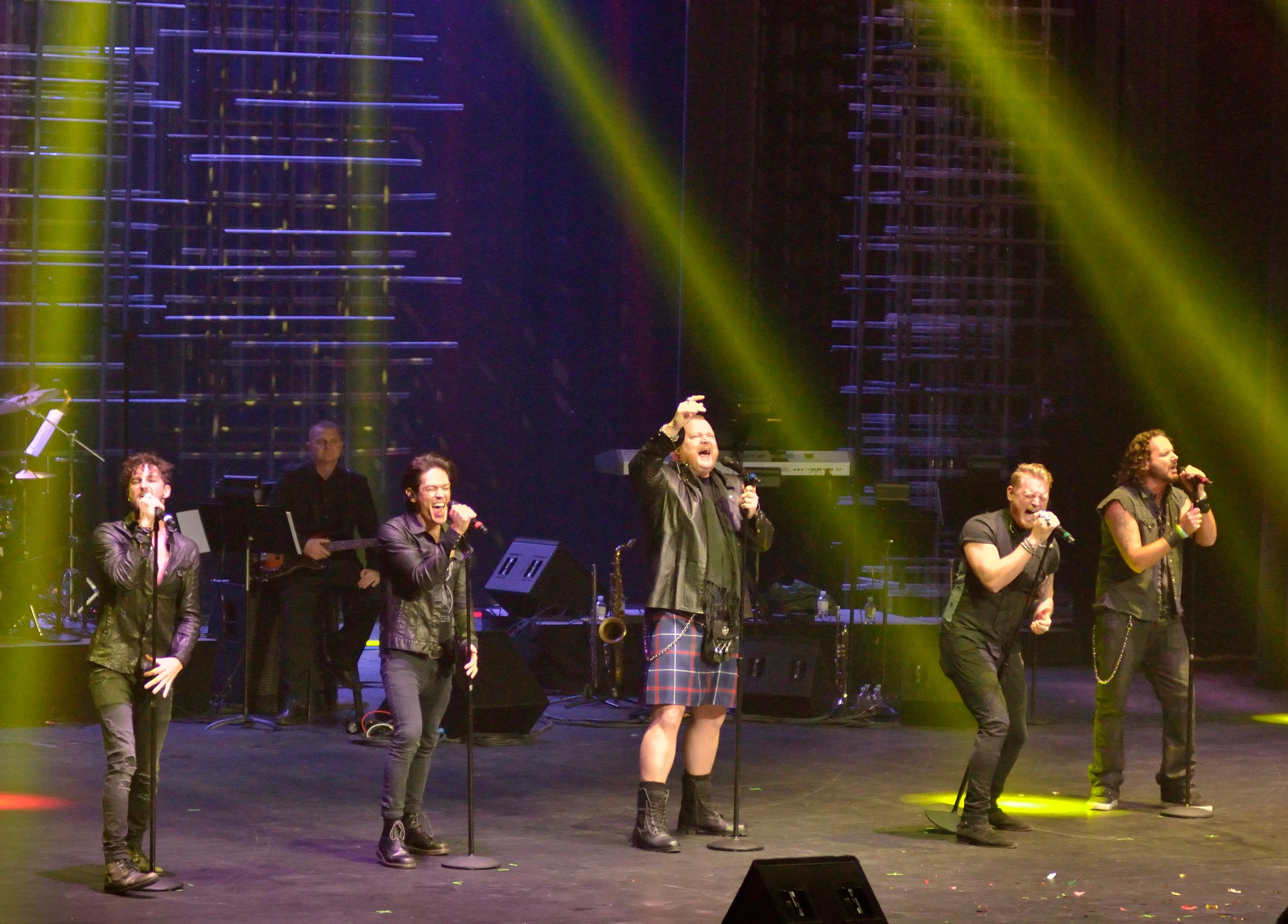 "The Tenors of Rock perform during the ""Vegas Cares"" benefit concert at the Venetian Theatre in the Venetian hotel-casino at 3355 S. Las Vegas Blvd in Las Vegas on Sunday, Nov 5, 2017. The concert was sponsored by a group of Las Vegas entertainers, producers and business professionals to honor the victims and first responders from shooting at the Route 91 Harvest festival. (Photo/Las Vegas News Bureau/Bill Hughes)"