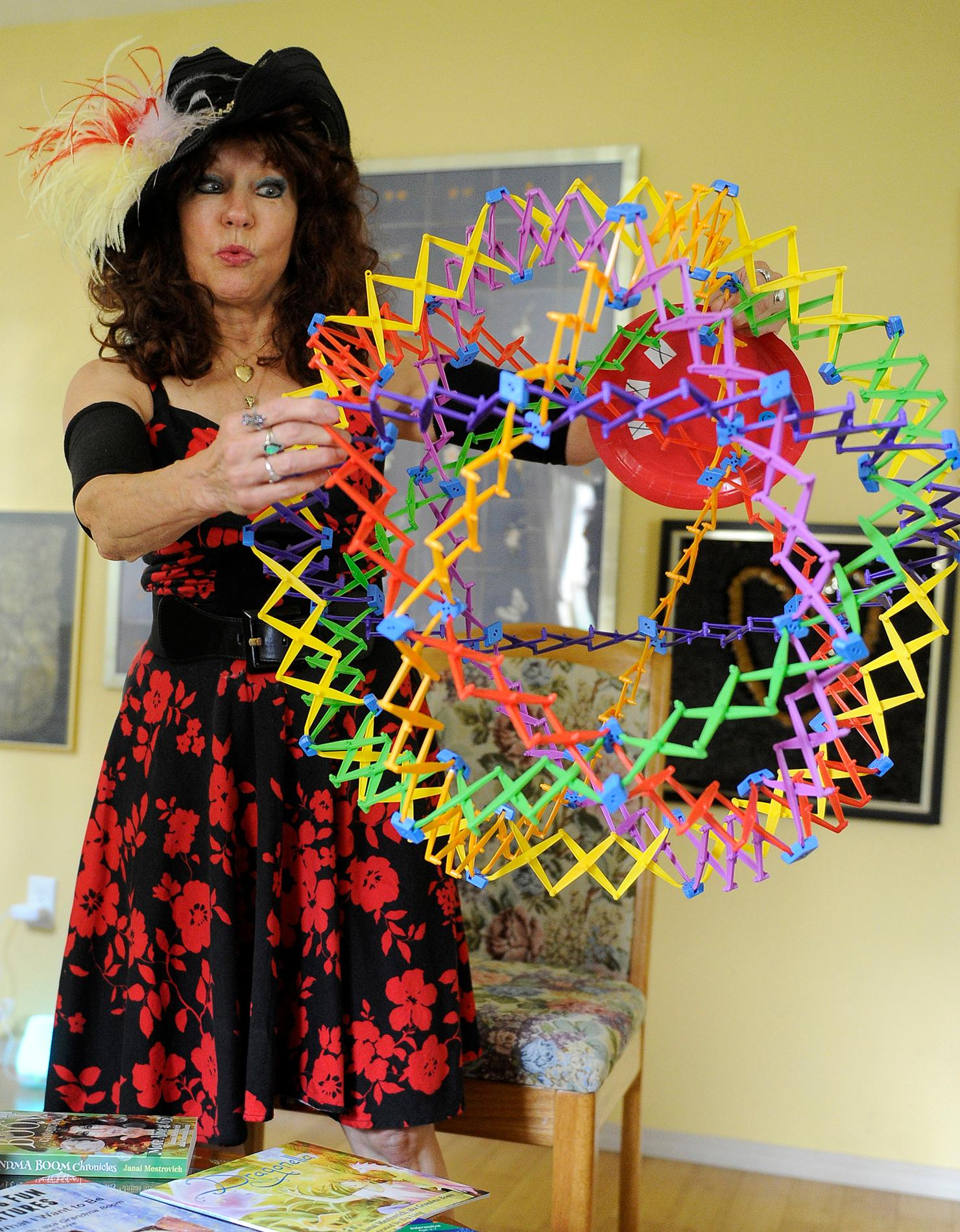 Andy Atkinson / Daily Tidings<br>Janai Mestrovich, aka Grandma Boom, shows how she uses 3-d objects inspiring children with life lessons in physical and mental wellbeing.