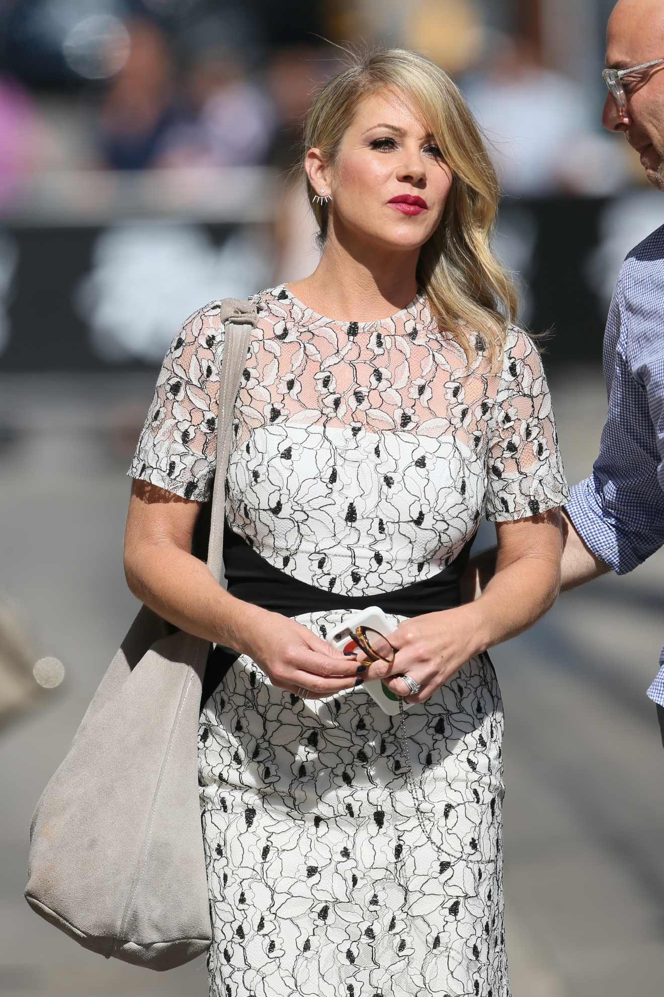 Christina Applegate seen arriving at ABC studios for Jimmy Kimmel Live                                    Featuring: Christina Applegate                  Where: Los Angeles, California, United States                  When: 30 Jul 2015                  Credit: Michael Wright/WENN.com