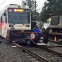Truck and MAX train crash in Gresham, halting lines in both directions