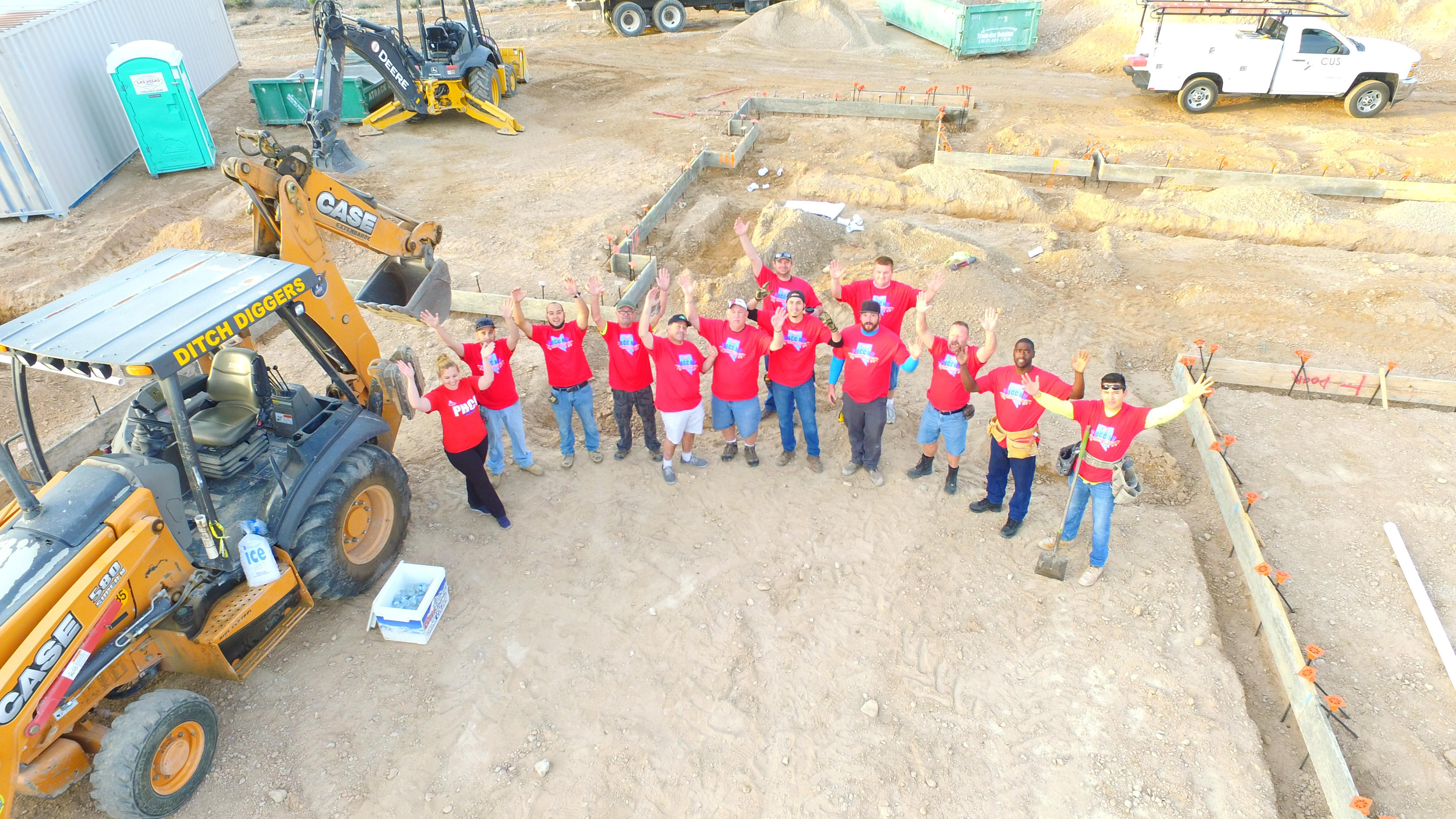 Crew on site of St. Jude's Dream Home construction 3/18/2017  Tickets for a chance to win the home available Wednesday, August 2, 2017 at DreamHome.org (or call 800-378-5386)  (Photo Courtesy Element Building Company)