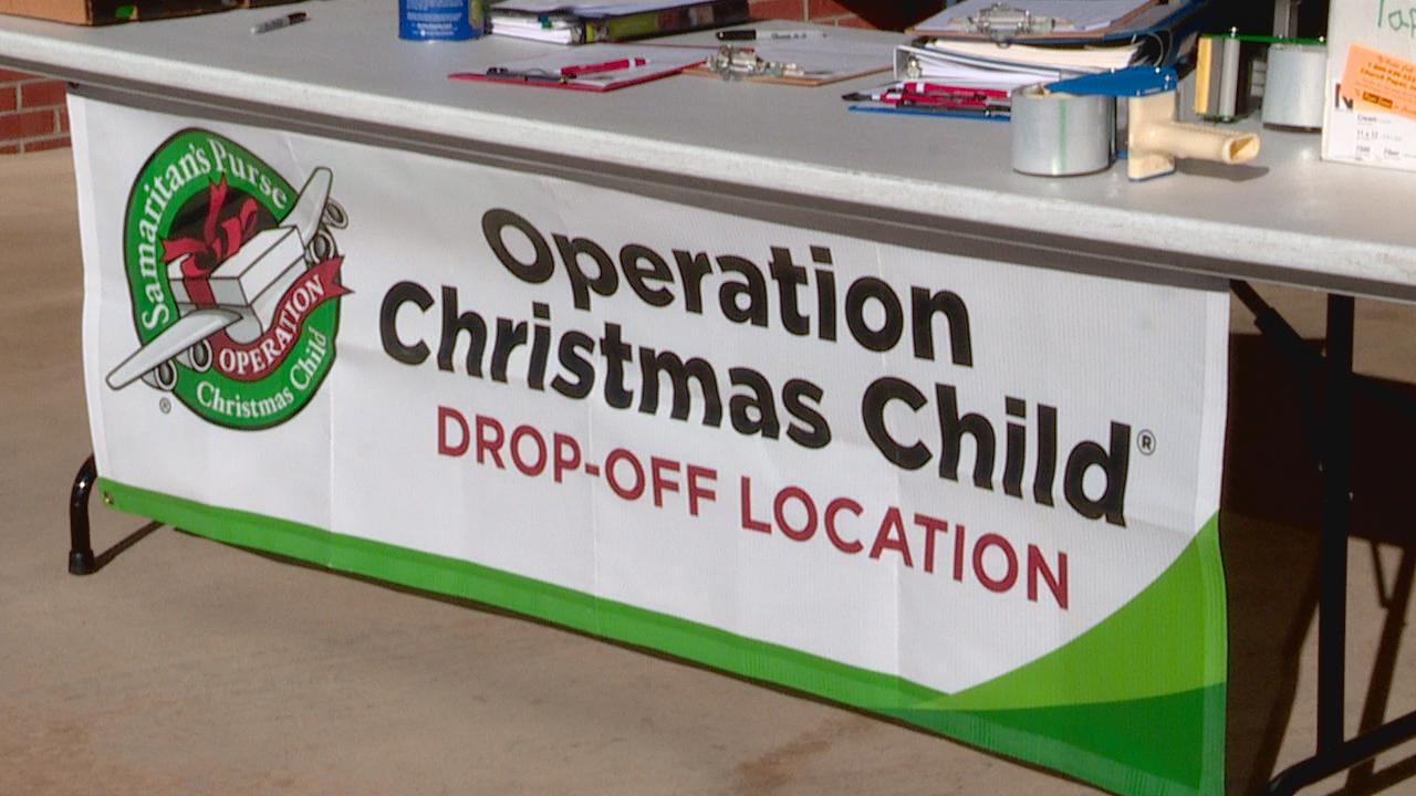 The more than 4,000 drop-off sites for Operation Christmas Child, including one at Hendersonville Presbyterian Church, wraps up Monday, Nov. 23. (Photo credit: WLOS staff)