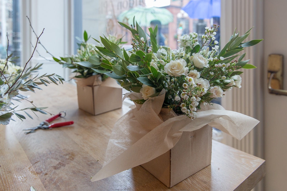 You leave with a fabulous arrangement and some awesome shears. (Image: Paola Thomas / Seattle Refined)