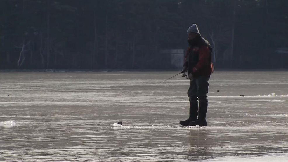 Ice fishing business hopes for colder temperatures this for Maine ice fishing derbies