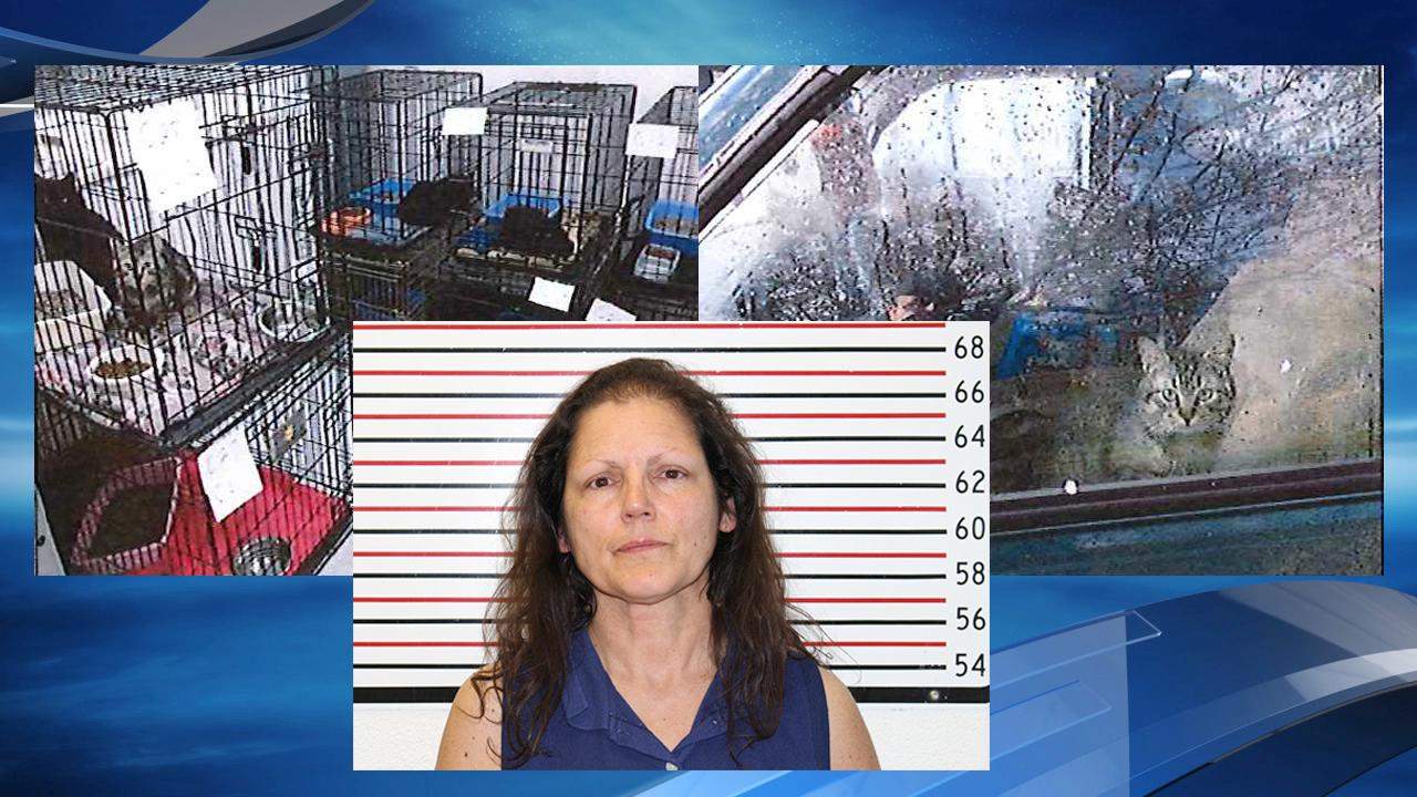 Kathryn St. Claire, 58, of Lake Stevens, Washington, was wanted on 10 counts of animal cruelty in the Evergreen State. (Warrenton Police Department)
