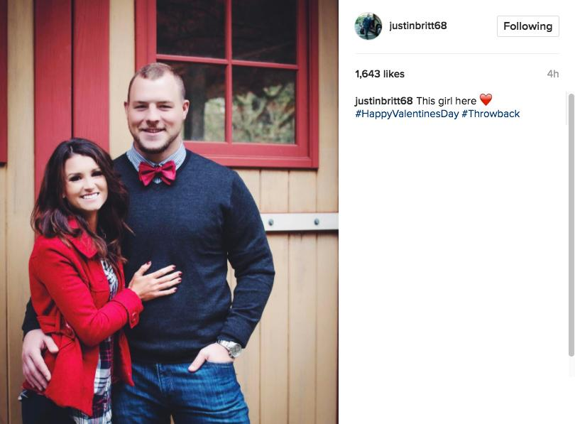 """This here here. #HappyValentinesDay #Throwback"" - Instagram @justinbritt68"