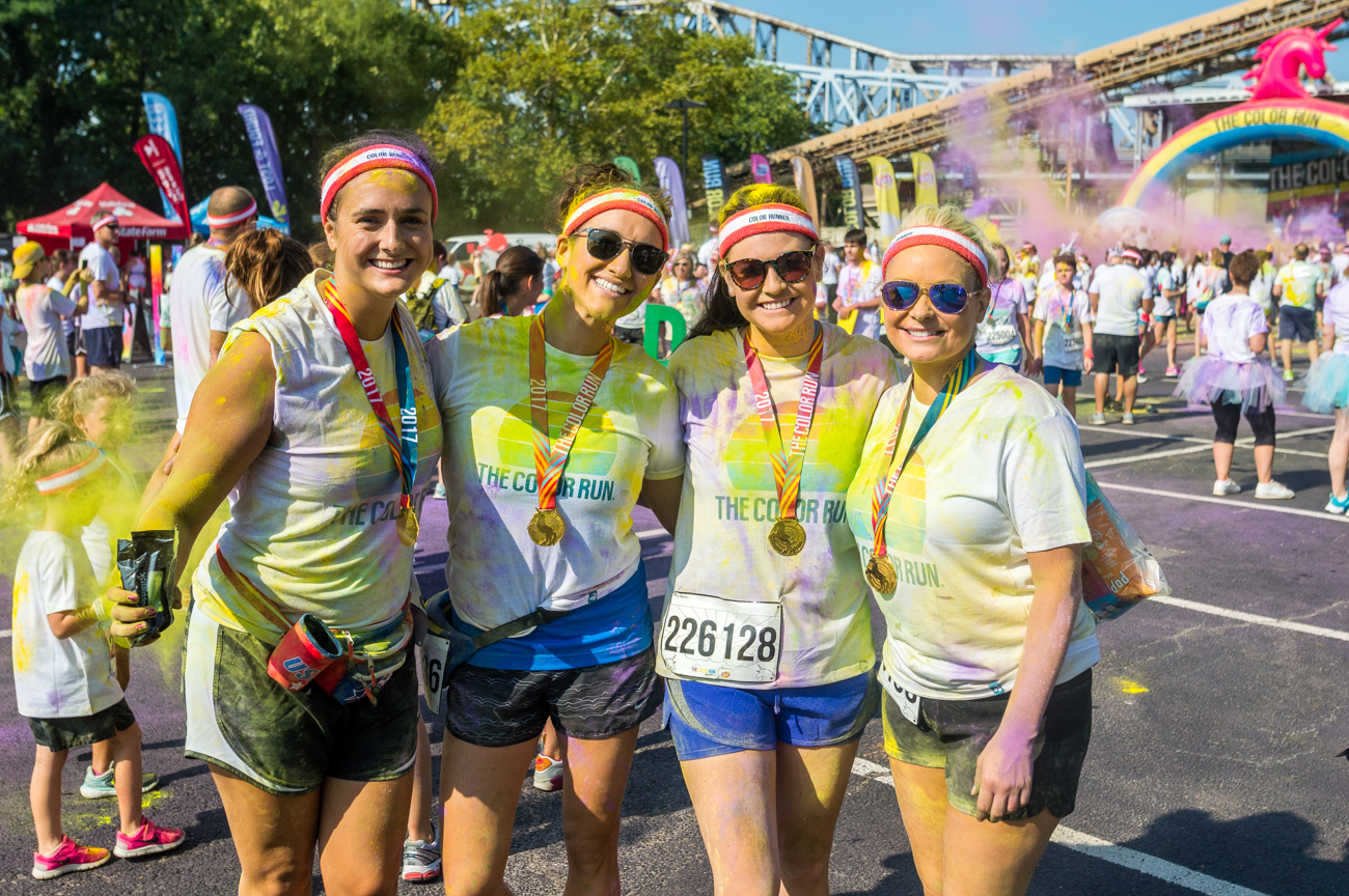 People: Hannah Simpson, Brittney Snyder, Ashley Davis, and Karie Miller / Event: The Color Run (8.12.17) / Image: Mike Menke // Published: 9.3.17