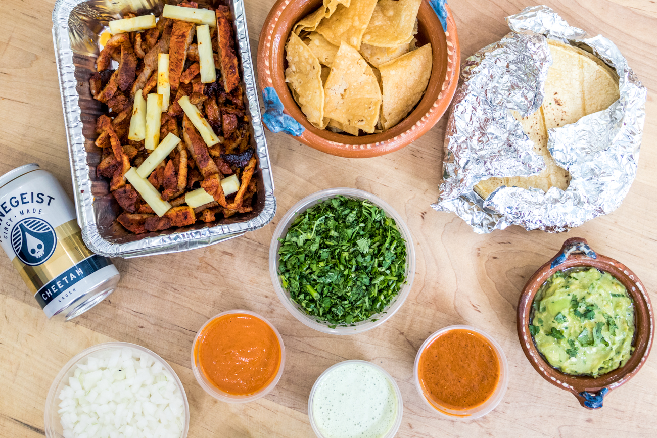 <p>Their tacos and kits have also been sold pop-up style from Forty Thieves (1538 Race Street) and The Takeaway Deli and Grocery (1324 Main Street) in Over-the-Rhine. Keep up with Pata Roja happenings and see where they'll will pop up next on their Facebook @patarojatacos. You can also keep them in mind for future gatherings, as they cater to special events. / Image: Catherine Viox // Published: 5.22.20<br></p>