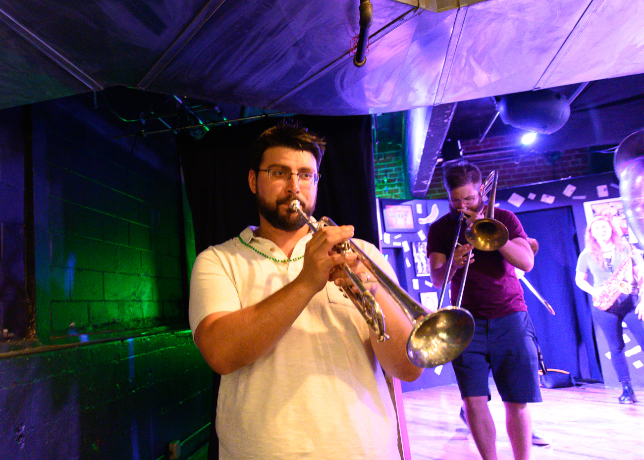 Largemouth Brass blew our minds while they walked around Jackson Street and through Know Theater as they performed. / Image: Cincinnati Refined // Published: 6.1.19