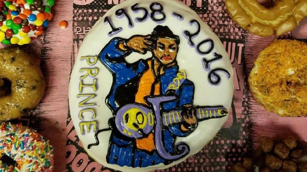 Voodoo Doughnut makes raspberry beret-filled tribute to Prince