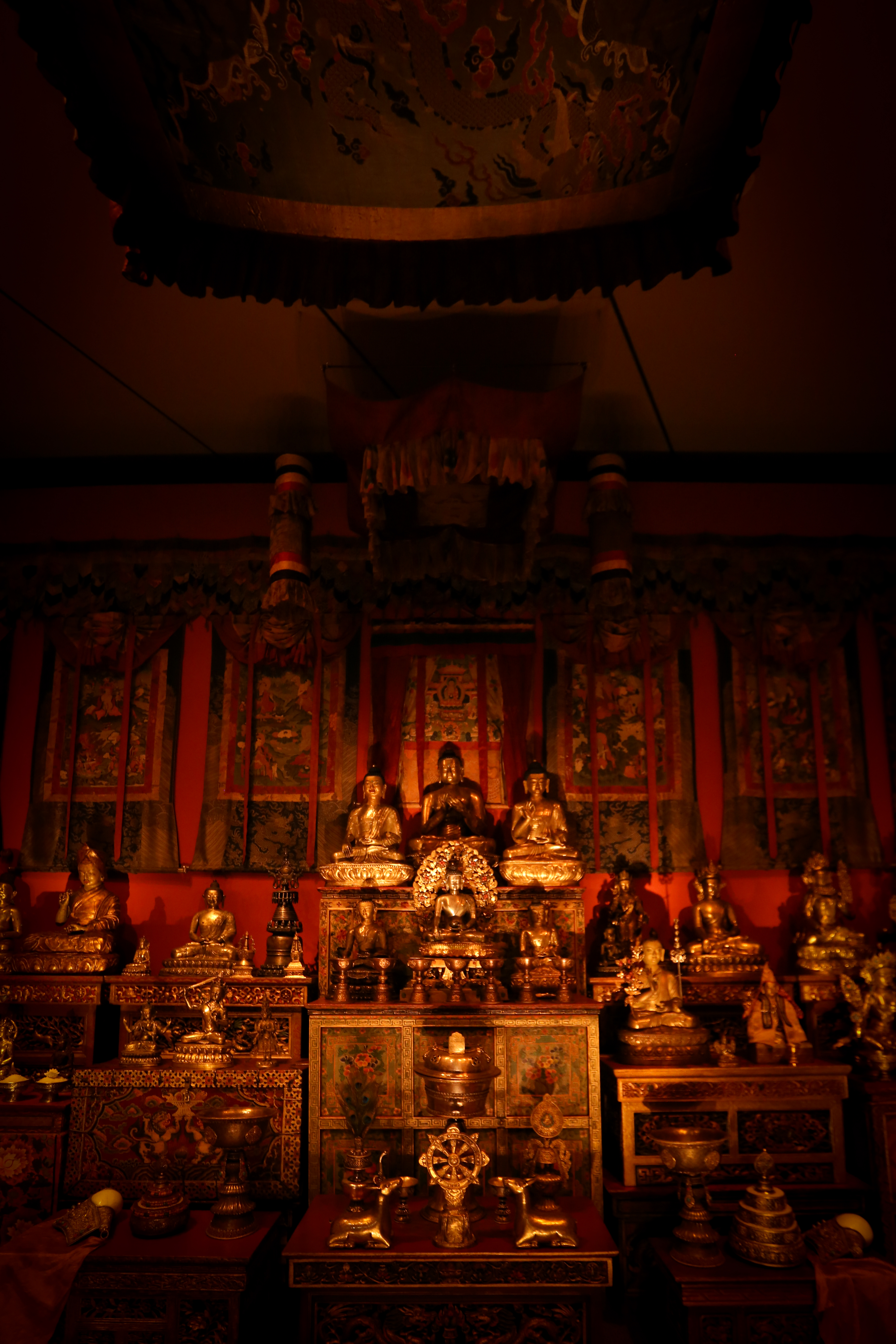 The Tibetan Buddhist shrine includes a soundtrack of monks chanting. (Amanda Andrade-Rhoades/DC Refined)<p></p>