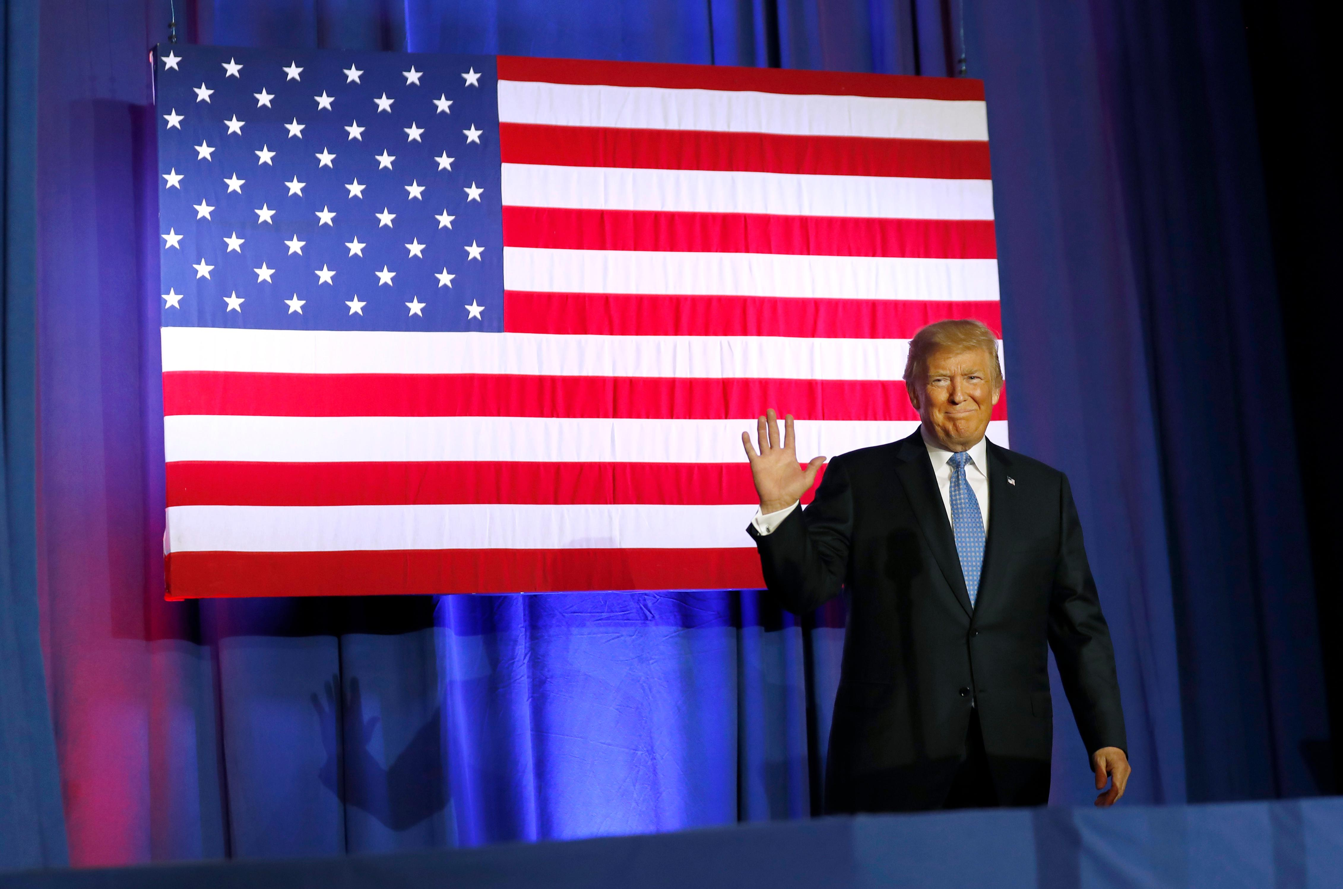President Donald Trump arrives to speak about tax reform at the Farm Bureau Building at the Indiana State Fairgrounds, Wednesday, Sept. 27, 2017, in Indianapolis. (AP Photo/Alex Brandon)