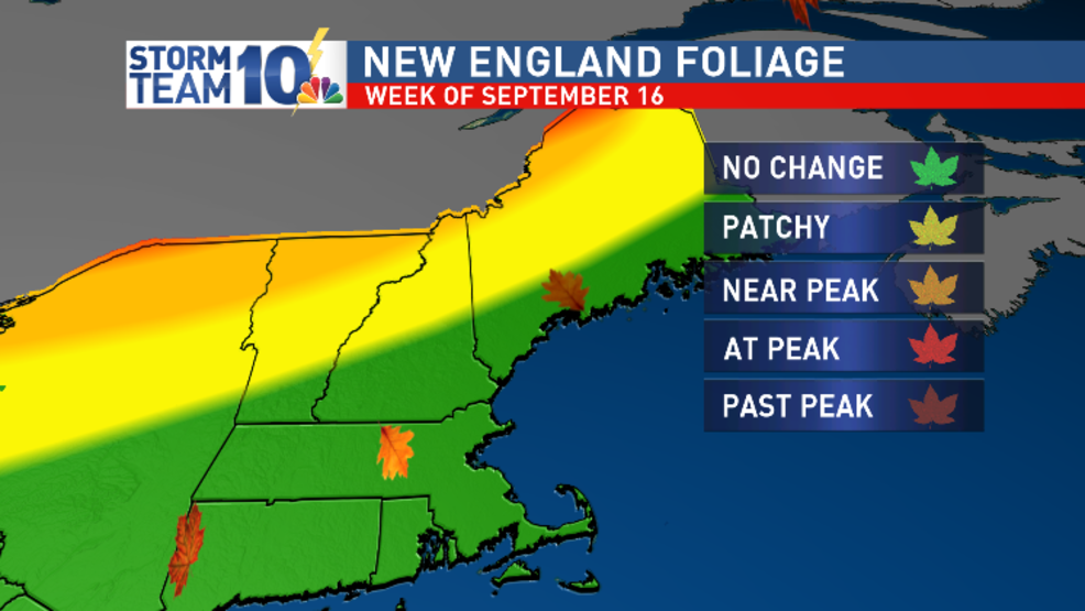 Fall foliage season just beginning in Northern New England
