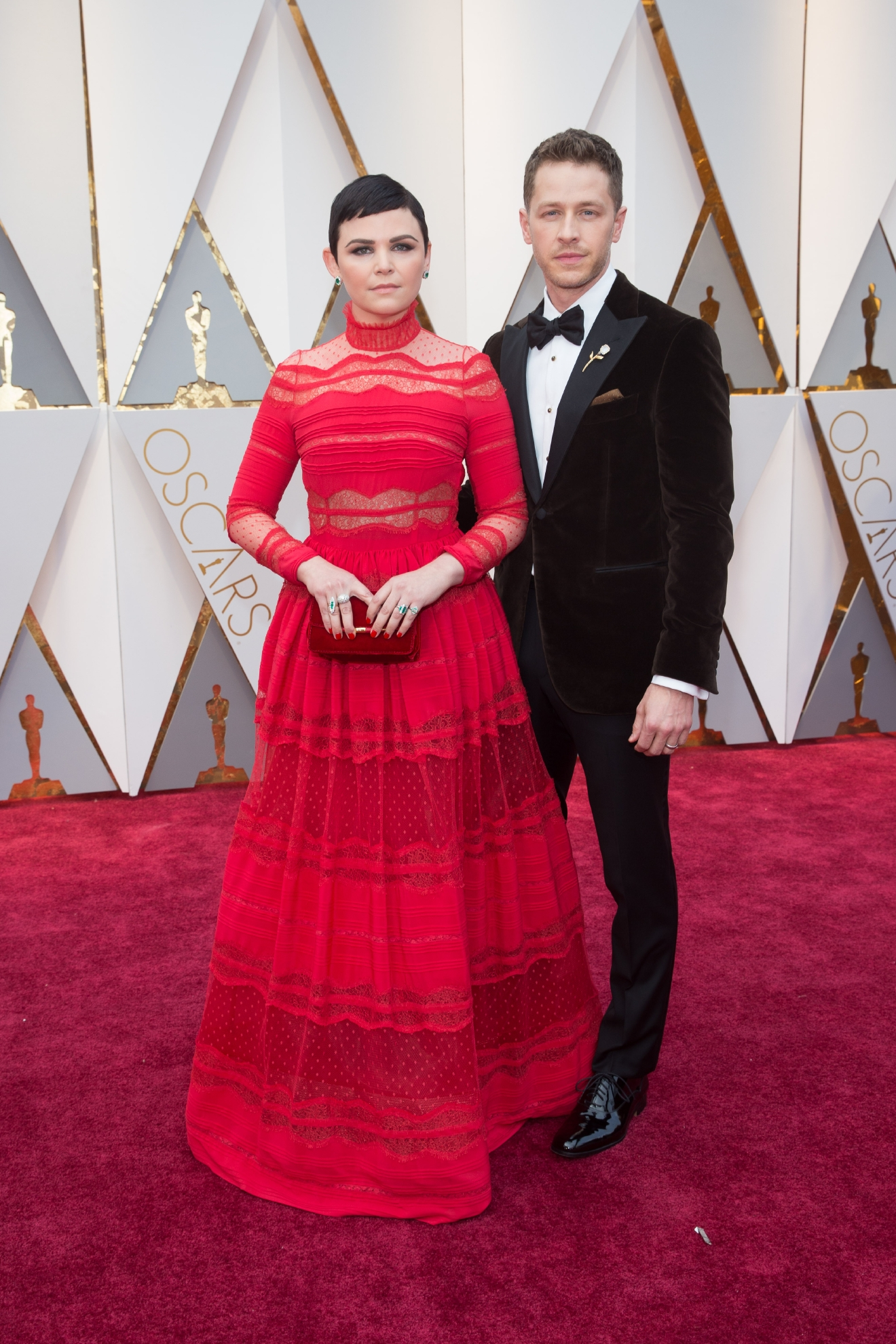 Ginnifer Goodwin and Josh Dallas arrives on the red carpet of The 89th Oscars® at the Dolby® Theatre in Hollywood, CA on Sunday, February 26, 2017. (A.M.P.A.S.)