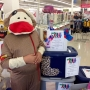 Wildlife Safari cheetah helps Mercy Foundation sock drive at K-Mart